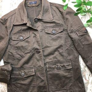 J.Crew Vintage Military Style Denim Jacket Size M